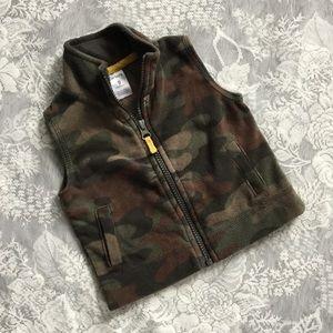 Carter's Camo Fleece Vest
